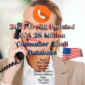 2021 Fresh Updated USA 28 Million Consumer Email Database